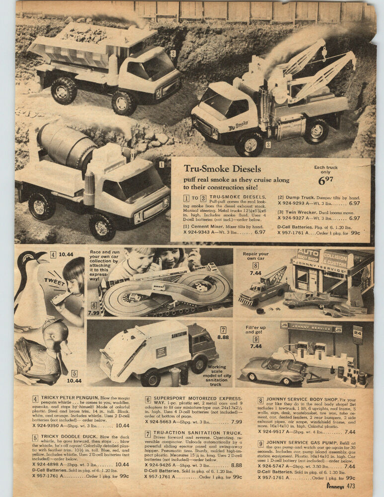 Details About 1969 Paper Ad Toy Truck Battery Tru Smoke Johnny Emobile Helmet Kennedy