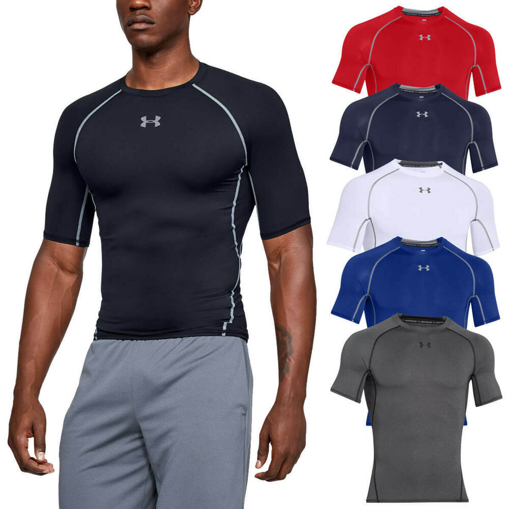876d39be Details about Under Armour Mens 2019 UA HeatGear Armour SS Compression  Shirt Base Layer T
