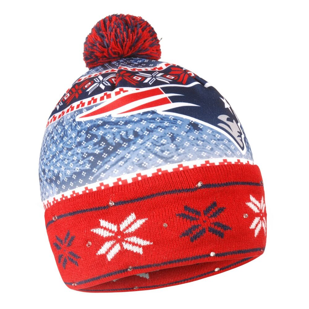 Details about New England Patriots Forever Collectibles NFL UGLY Light Up  Beanie FREE SHIP b15f9c408a3