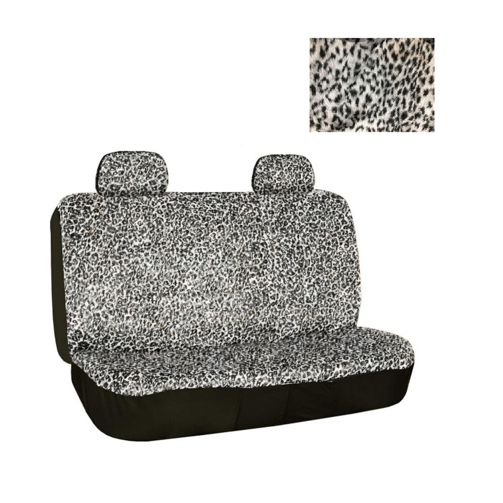 Universal Fit Rear Bench Car Seat Cover 3 Piece Snow Grey