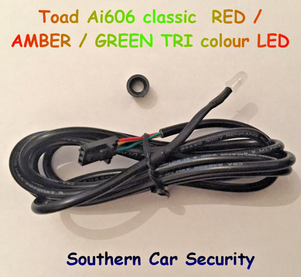Toad Ai606 Thatcham Cat 1 Car Alarm Original Tri Colour Red Amber Color Led Wiring Of A Green Ebay