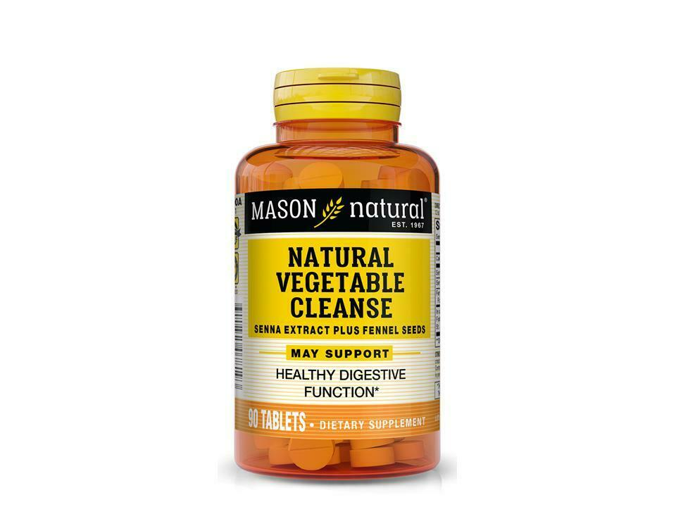 90 Tablets Natural Vegetable Cleanse Senna Extract Fennel Seeds