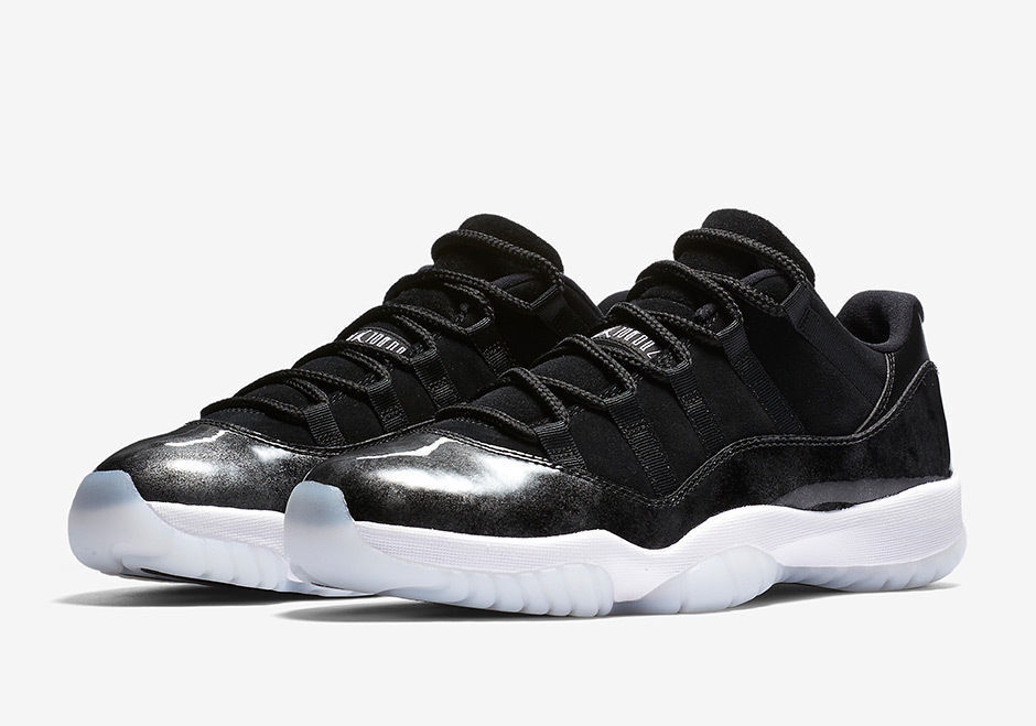 fc7c0dda3790cb Details about Nike AIR JORDAN Retro 11 Low Barons Black White Silver  528895-010 Size 13 Nice!!