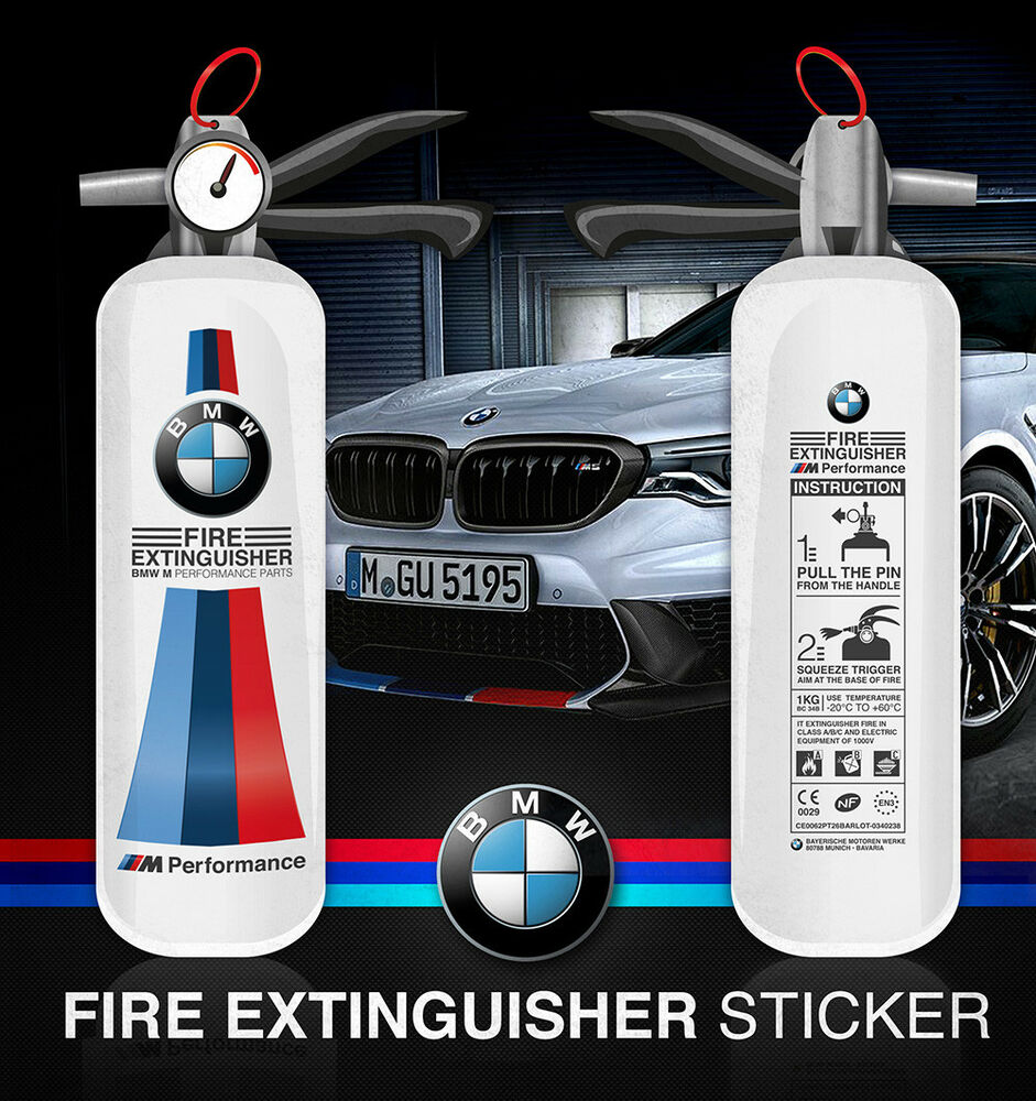 BMW Fire Extinguisher M Performance Sticker Decal Style (for Light Color) |  EBay
