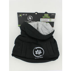 New Silver Paws Dog Hoodie - Black with Gray - Size XXSmall 8''