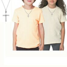 Sterling Silver Children's Kids Baby Cross Necklace 16