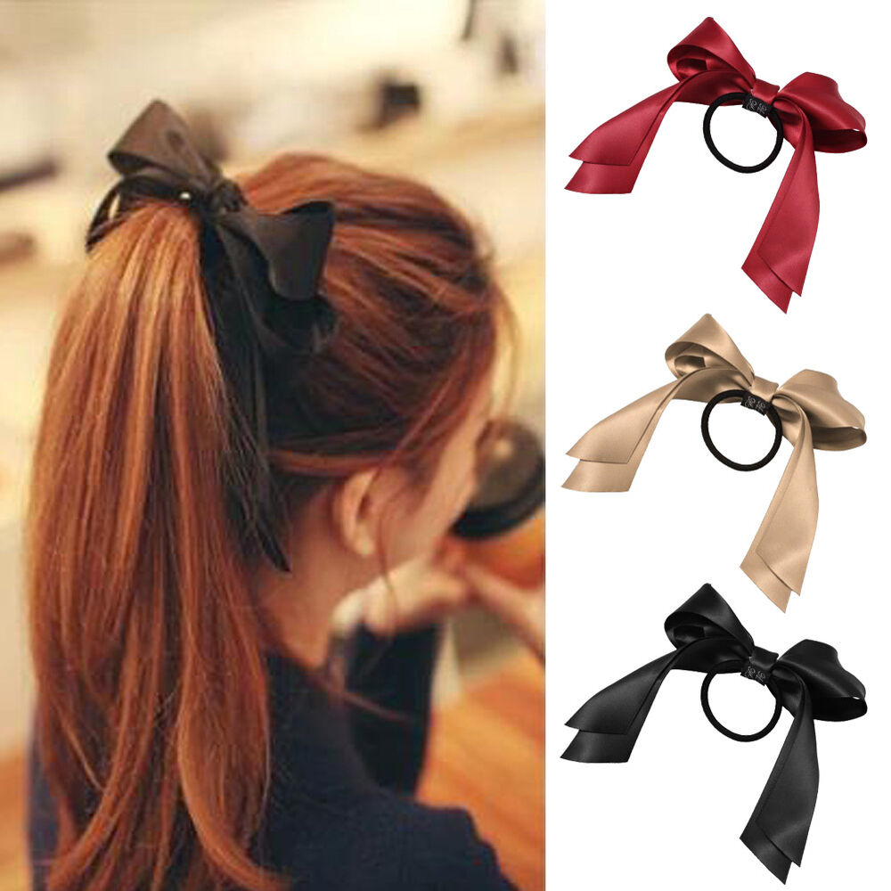 Details about Elastic Cute Ribbon Bow Hair Tie Rope Women Hair Band  Scrunchie Ponytail 9c645060640
