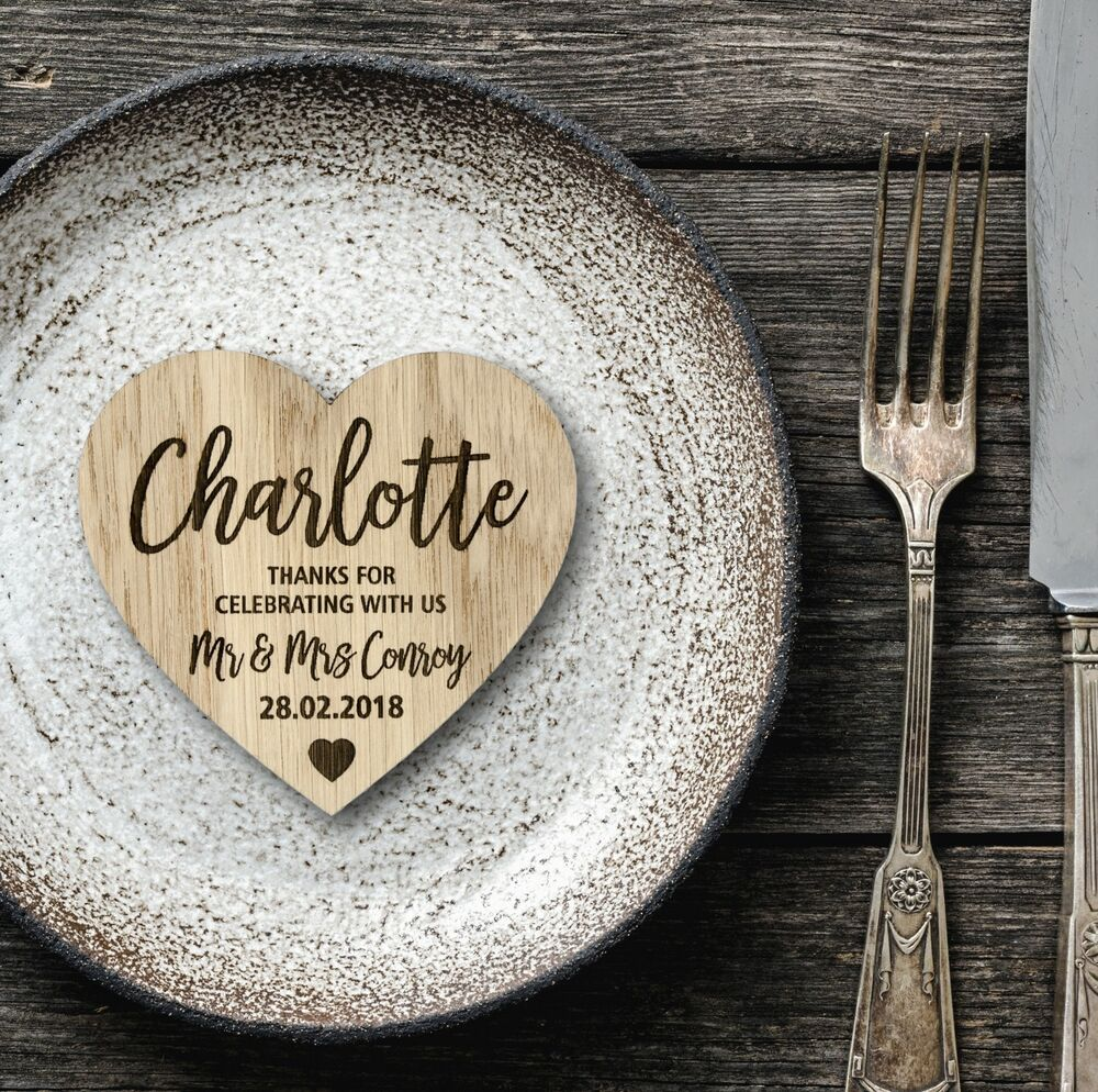 Wedding Place Name Ideas: Wedding Place Cards Table Name Settings Wooden