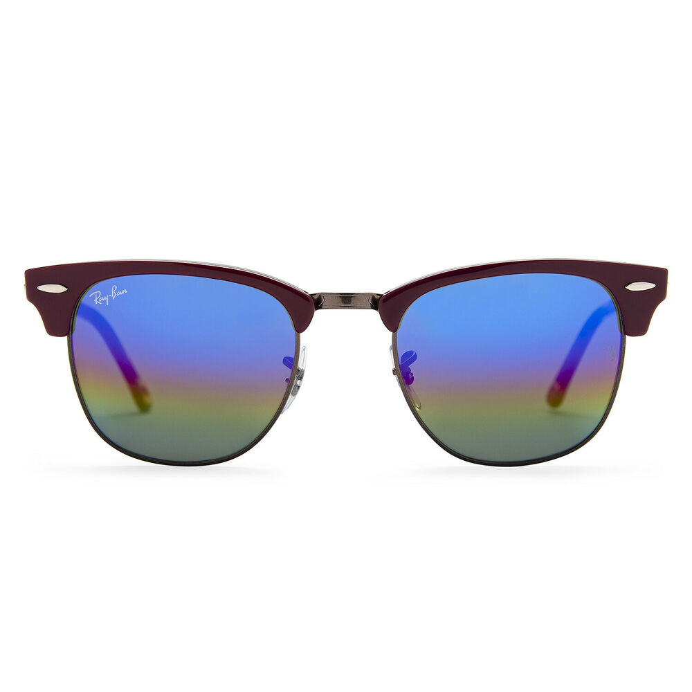 38d8949b6027c Ray-Ban RB3016 Clubmaster Mineral 51mm Sunglasses (Blue Gold Rainbow)  8053672732078