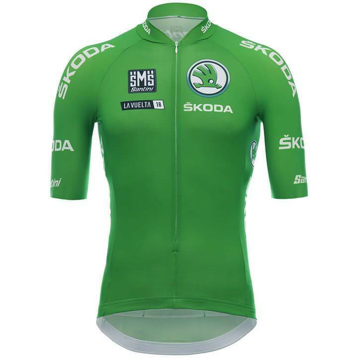 Details about 2018 La Vuelta Green Points (Sprinter) Classification Cycling  Jersey by Santini dd8aec0a1
