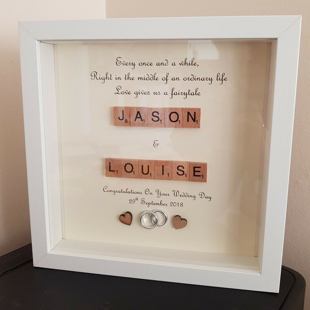 Personalised Wedding Day Frame Mr Mrs Bride Groom Frame Love Gift
