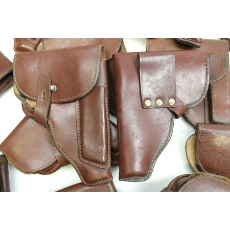 img-DDR NVA EAST GERMAN ARMY HOLSTER MAKAROV in BROWN LEATHER