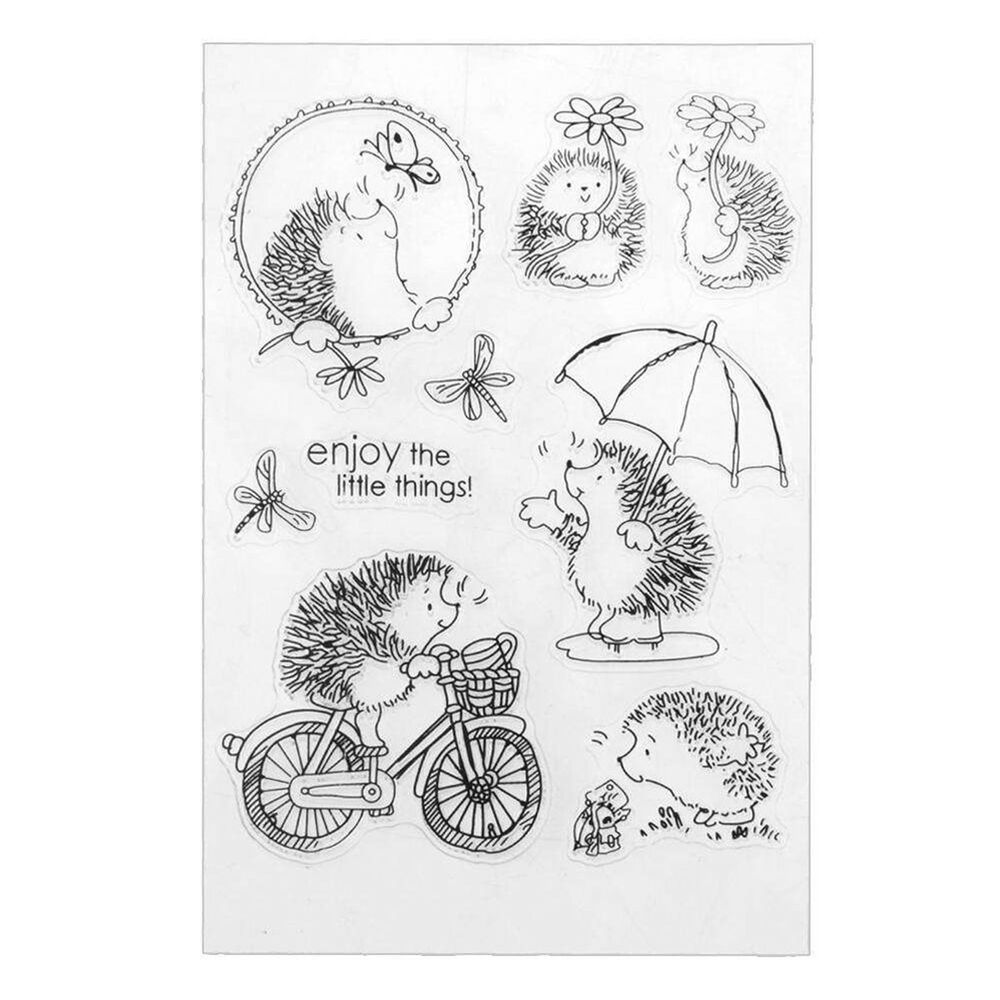 Hedgehog Silicone Clear Stamp Transparent Rubber Stamps ...