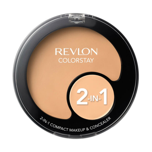 New-   Revlon Color Stay 2-In-1 Compact Makeup & Concealer  [Choose Color]