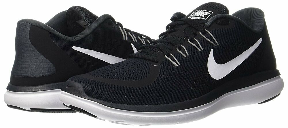 65ccac051db3 Details about Nike Flex 2017 RN Sz 10.5 Black White-Anthracite Men s  Running Shoes 898457-001