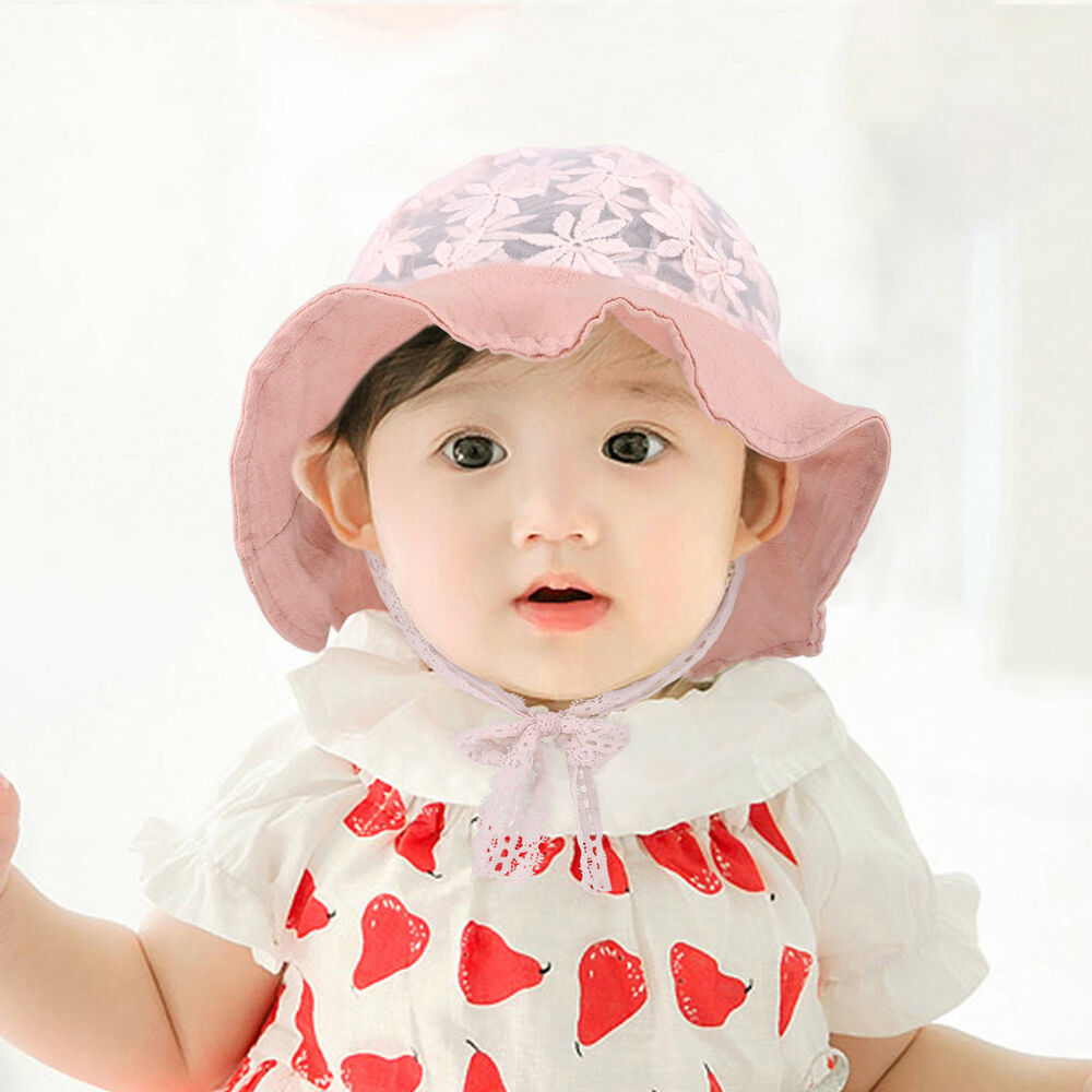 99a10124 Details about Baby Girls Boys Toddler Newborn Sunhat Summer Bucket Hat Cap  Beach Headwear
