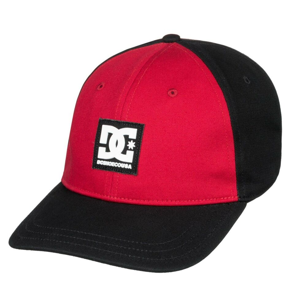 e53246e2 Details about DC SHOES MENS BASEBALL CAP.NEW SPINNER BLACK RED COTTON SNAPBACK  HAT 8W 636 KVJO