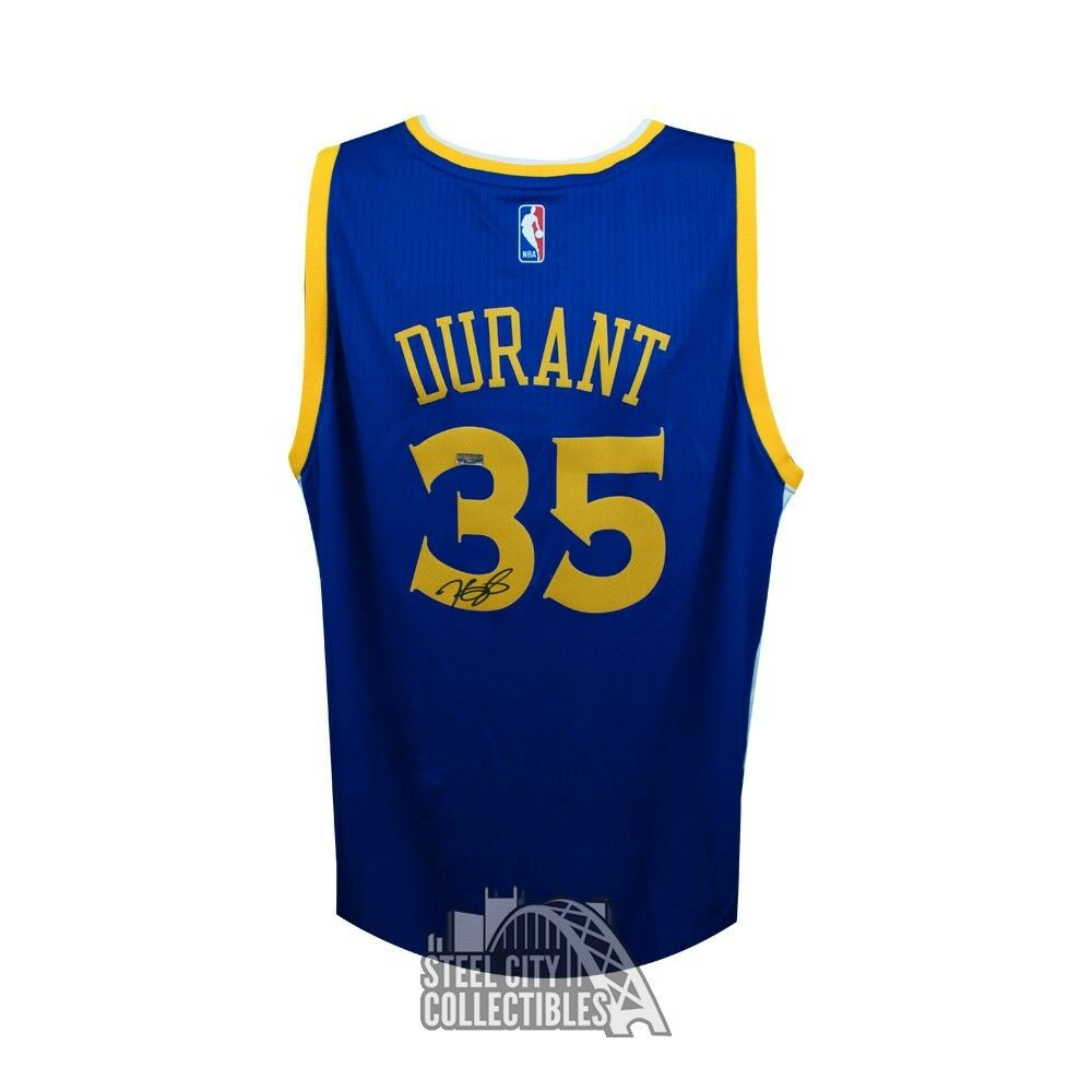25e2325a097 Details about Kevin Durant Autographed Golden State Warriors Swingman  Basketball Jersey Panini