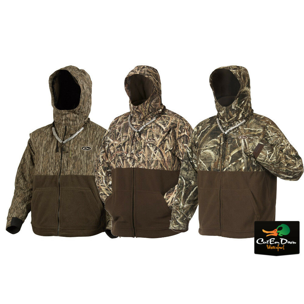 9e06f15419f71 Details about DRAKE WATERFOWL MST CAMO EQWADER DELUXE FULL ZIP JACKET COAT
