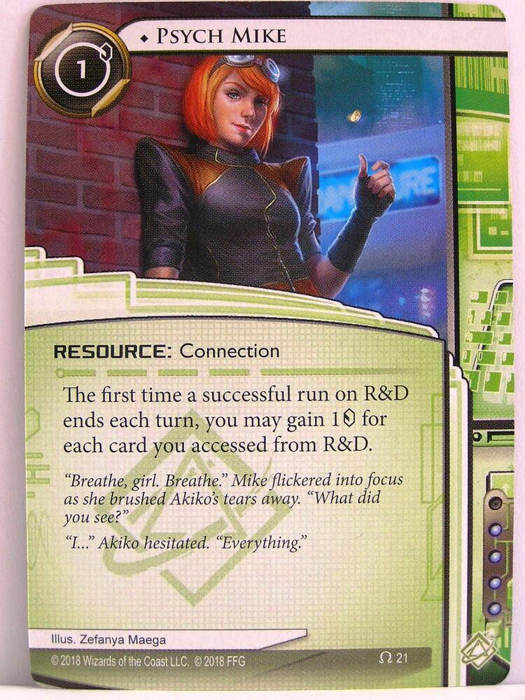 1x #050 The Outfit Android Netrunner LCG Reign and Reverie