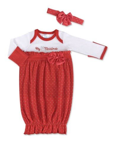 Nursery Rhyme Baby Girl's My 1st Christmas Gown Size 0-6 Months New with Tags