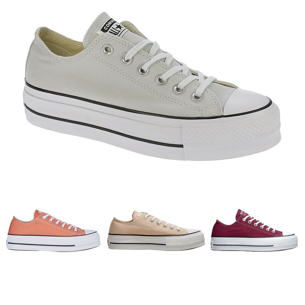 37d85625399 Details about Converse CT AS Lift OX Canvas Platform Low-top Lace-up  Sneakers Womens Trainers