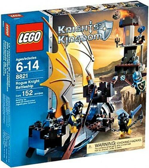 Lego Knights Kingdom Rogue Knight Battleship Set 8821 673419079808