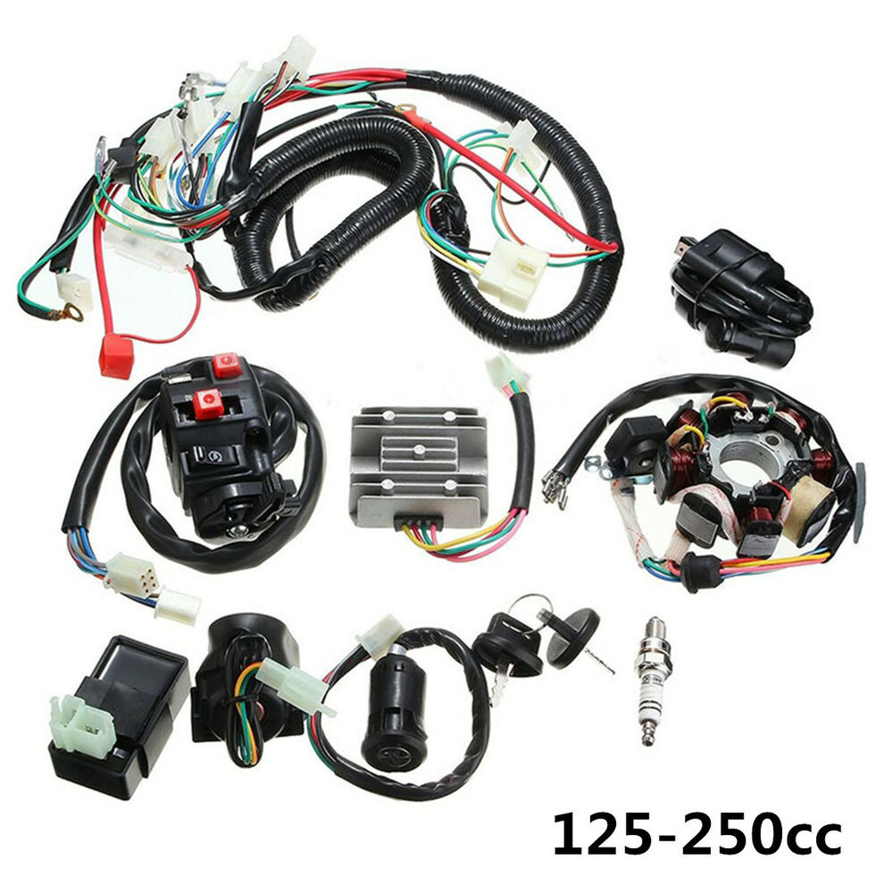 125-250CC Motorcycle Stator CDI Coil Electric Wiring Harness Loom Assembly  Kit 7246460735578 | eBay