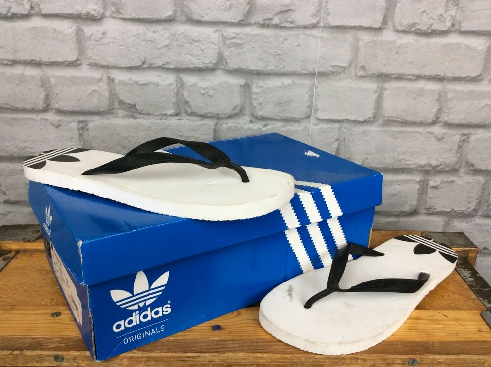 425eef8d4 Details about ADIDAS MENS UK 9 EU 43 BLACK WHITE ADI SUN FLIP FLOPS SUMMER  HOLIDAYS BEACH