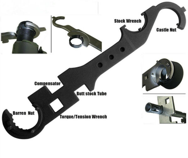 US Portable Cambo 8 in 1 Tool Armorer's Wrench For Rifle Scope Hunting Metal