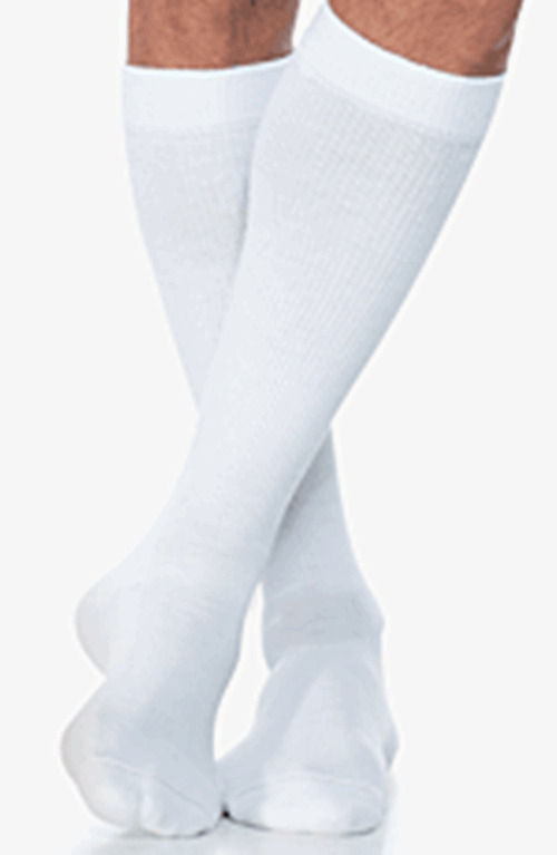 0cf04cf58f4 Details about SIGVARIS 602 Mens Diabetic Compression Knee High Socks 18-25  mmHg WHITE SL