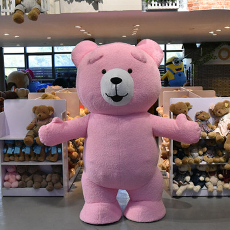 deeb9f3a225 Details about Inflatable Plush Teddy Bear Mascot Costume Adult Size  Halloween Fancy Dress hot