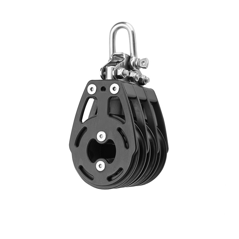SpIntech 57MM Sailboat Block Single Swivel  with Becket