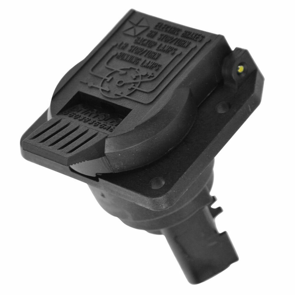 details about oem trailer hitch 7 pin way wiring connector receptacle plug  for dodge jeep