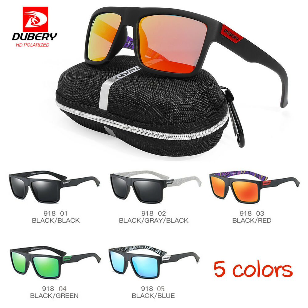 5c6d20d3def5 Details about DUBERY Men Women Polarized Sunglasses UV Glasses Sport  Driving Fishing Cycling