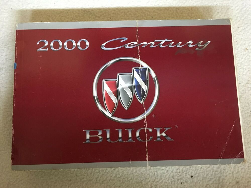 2000 Buick Century Owner U0026 39 S Owners Manual Books User Guide