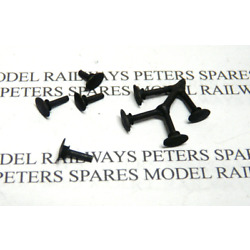Peters Spares PS17 Triang Hornby S2125 Replacement Oval Buffers - Metal (Pk4)