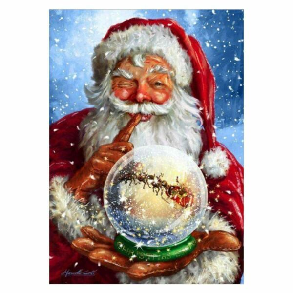 Santa Claus Ball 5D Full Diamond Embroidery Painting DIY Cross Stitch Home Decor
