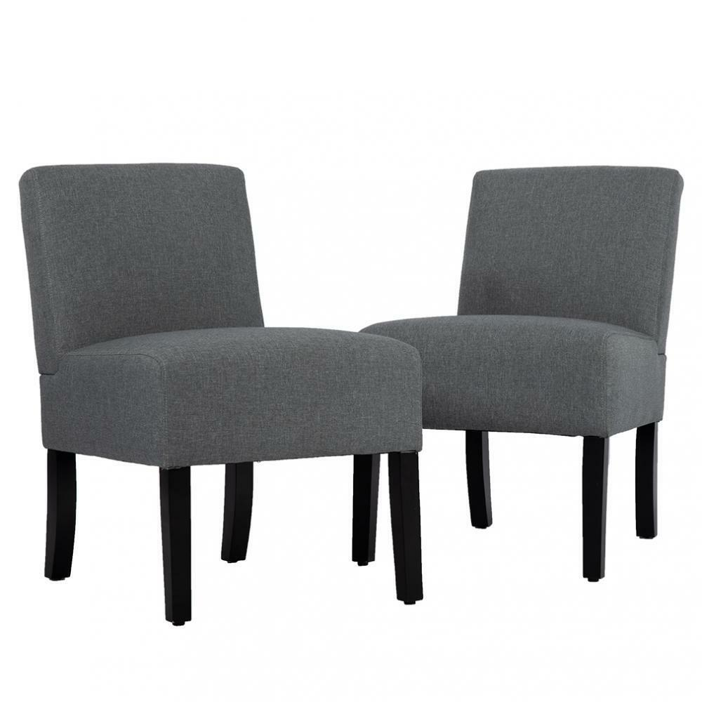 Set Of 2 Chairs Upholstered Accent Chair Sofa Club Side Chair