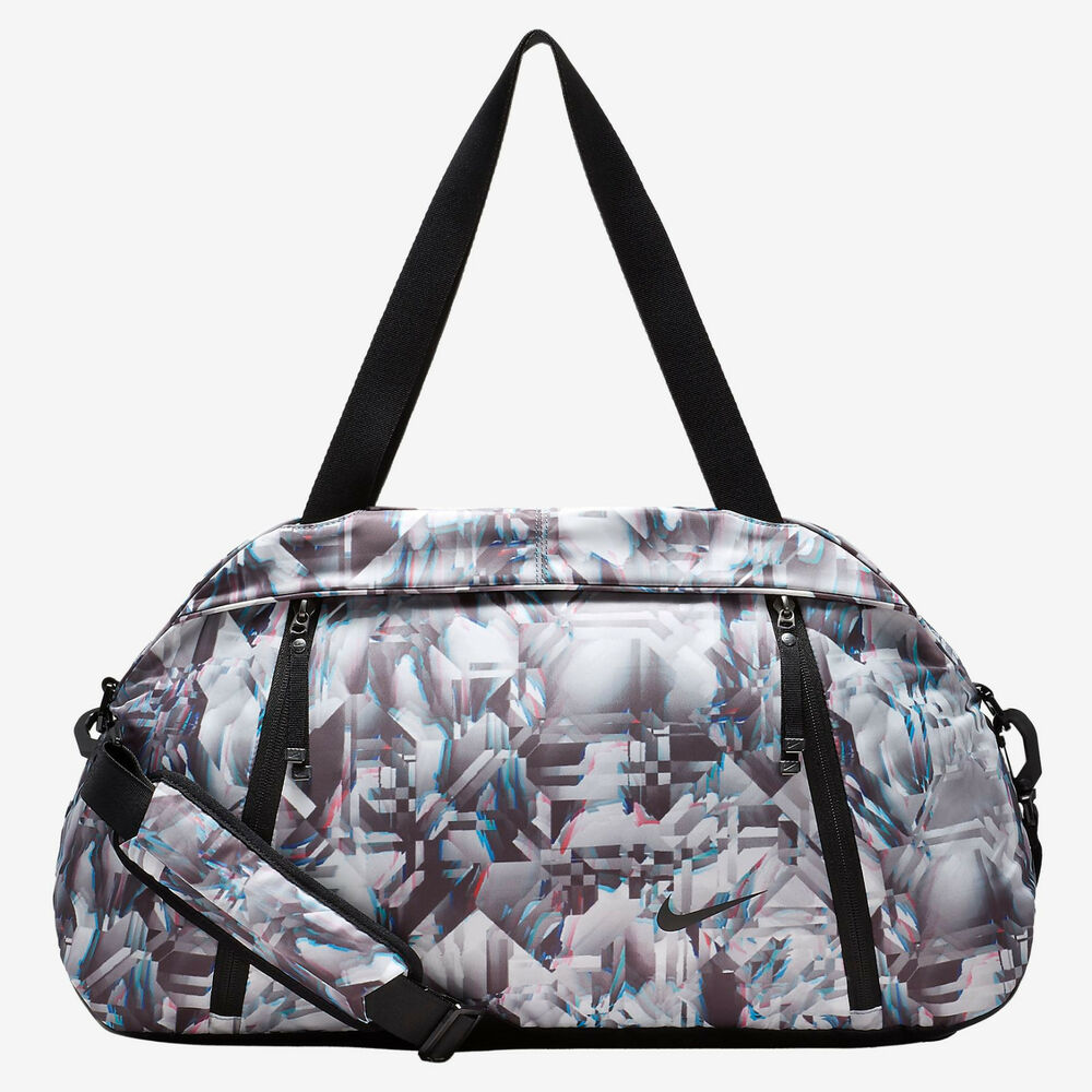 Details about Nike Auralux Print Club Training Gym Travel Duffel Bag Black  White Blue Tote New 16ccca9204232