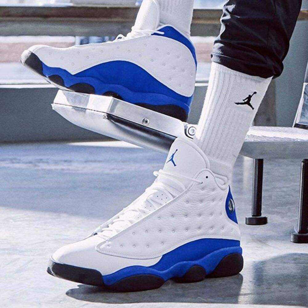 f4cdc8b6fa4cf Details about Nike Air Jordan 13 Retro XIII Hyper Royal White Blue Mens  Womens Sneakers Pick 1