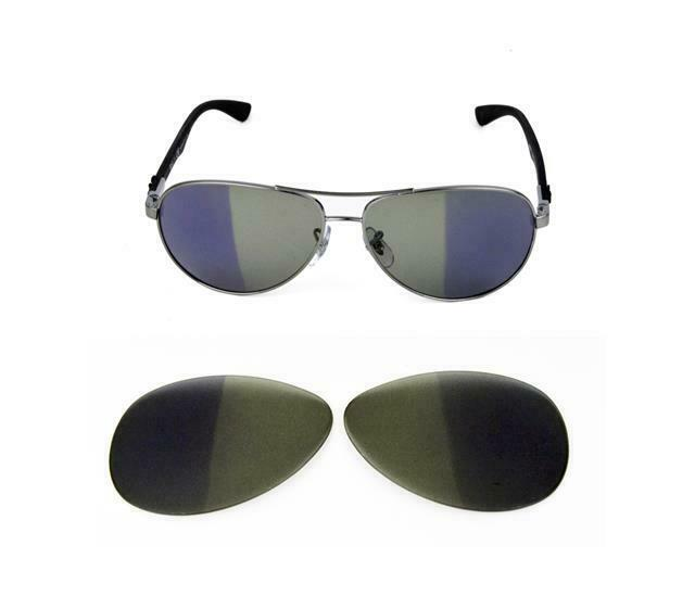 e84f1d5a79d Details about NEW TRANSITION PHOTOCHROMIC LENS FIT RAY BAN TECH 8313 58MM  SUNGLASSES