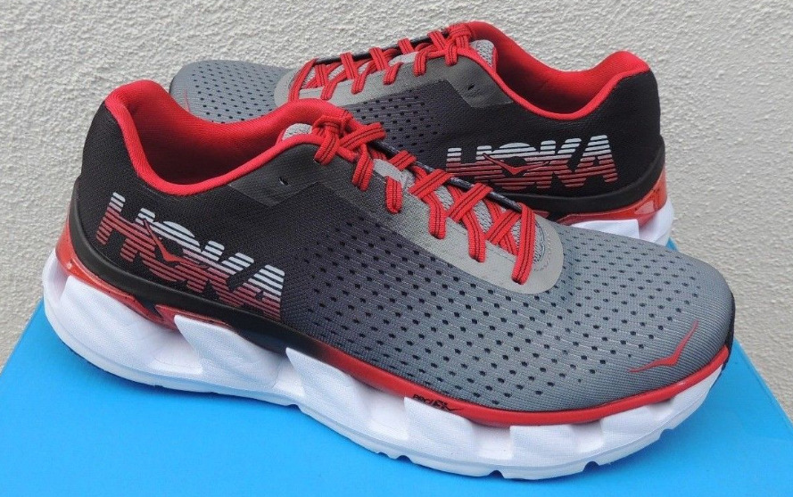 f4be675a0f13 Details about Hoka One One Elevon Black   Racing Red Running Shoe Men s  sizes 7-14 NEW