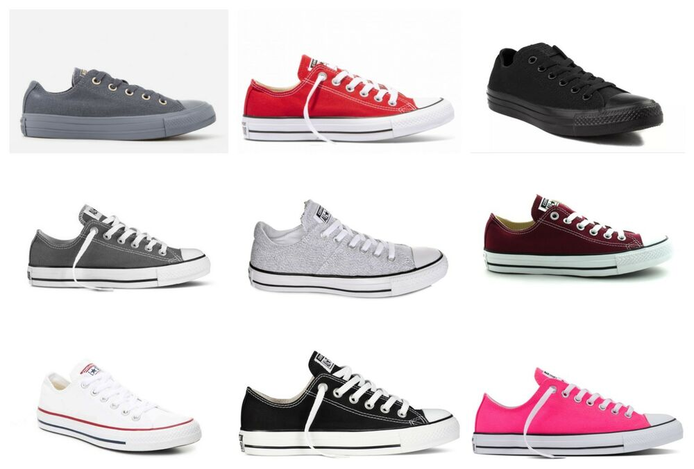 25f67a7fb9fa Details about Converse Womens US 6 - 14 Chuck Taylor All Star Lace Up Canvas  Low Top Shoes New