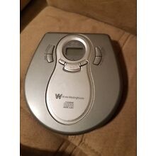 White westinghouse Portable CD Player