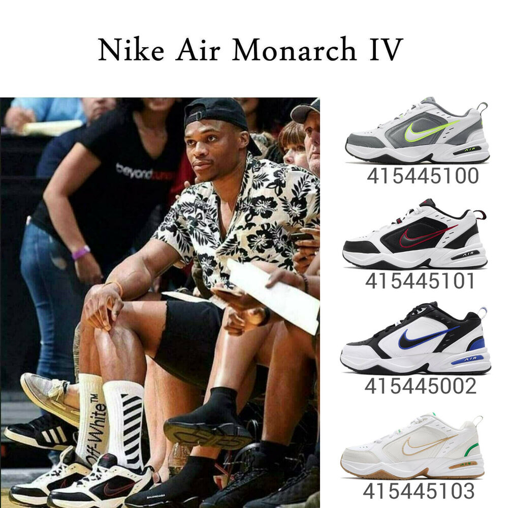 3e5421cd551 Details about Nike Air Monarch IV 4 White   Black Daddy Shoes Chunky  Sneakers Pick 1