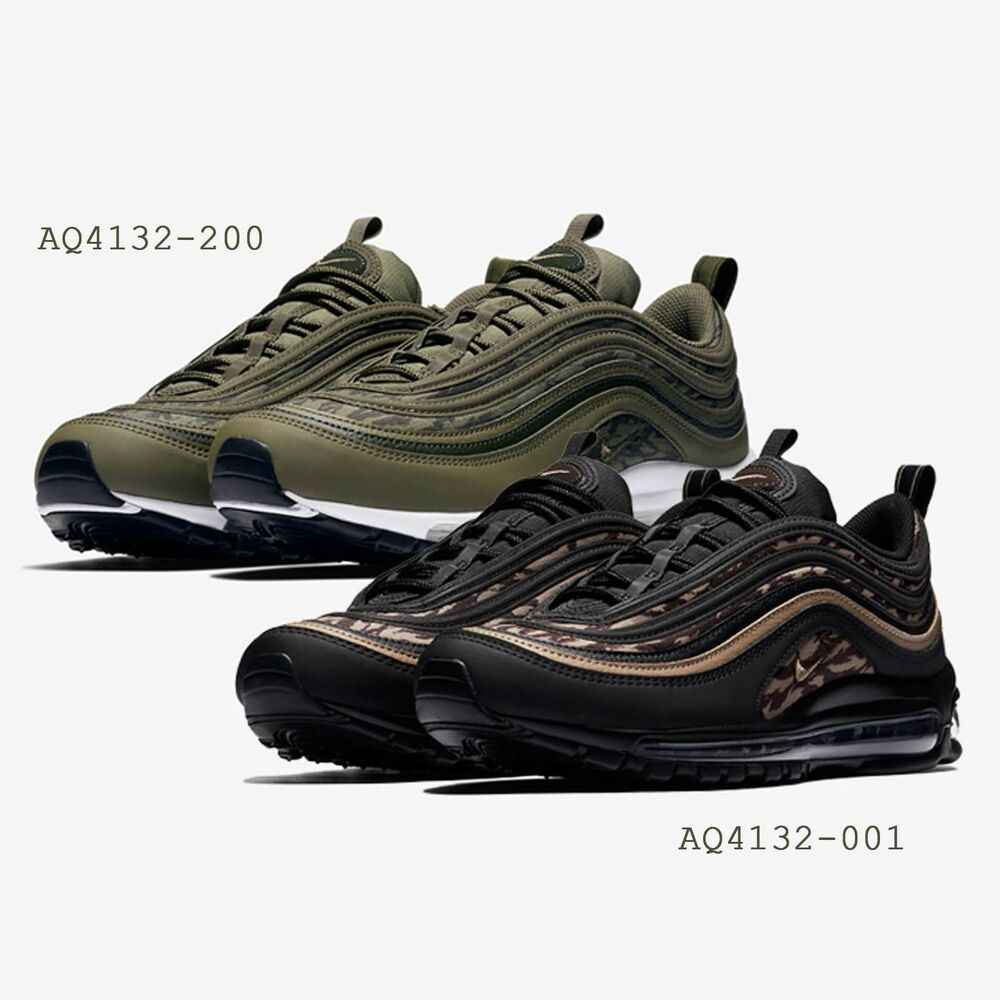 35d6c25bf98b Details about Nike Air Max 97 AOP Tiger Camo Print Green   Black Mens  Running Shoes Pick 1