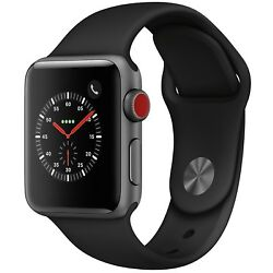 Kyпить Apple Watch Series 3 38mm Space Gray Case Black Sport Band GPS + Cellular на еВаy.соm