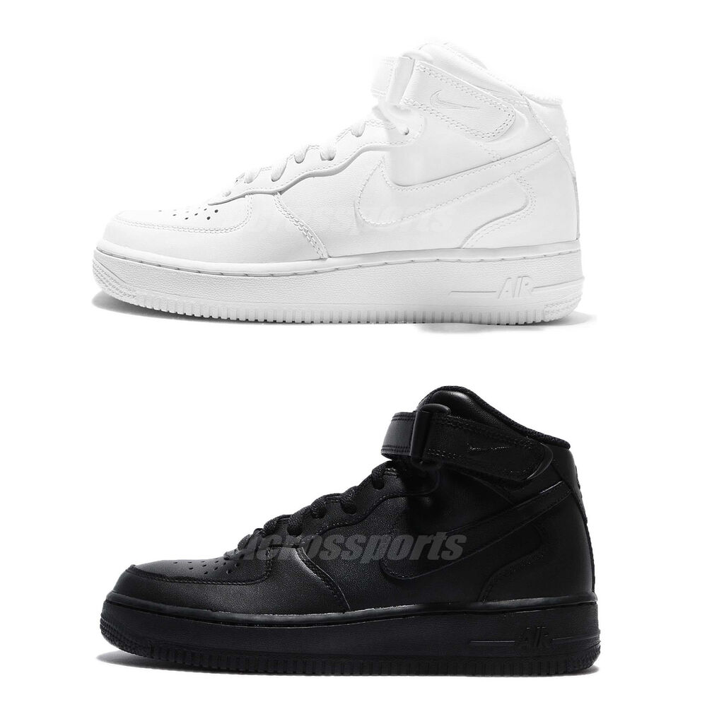 half off 96142 df754 Details about Nike Air Force 1 Mid 07 LE One Black   White Men Classic Shoes  Sneakers Pick 1