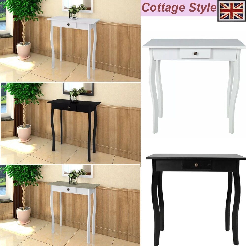 Small Hallway Furniture: Cottage Style Small Console Table Side End Hall Table